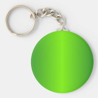 Green 4 - Lawn Green and Forest Green Gradient Basic Round Button Key Ring