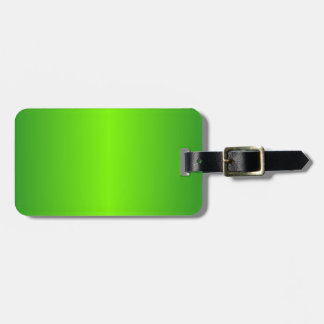 Green 4 - Lawn Green and Forest Green Gradient Luggage Tag