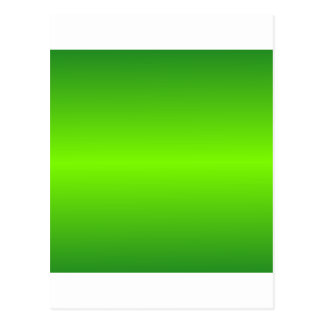 Green 4 - Lawn Green and Forest Green Gradient Postcard