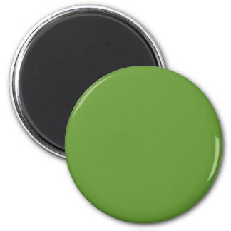 Green #669933 Solid Color 6 Cm Round Magnet