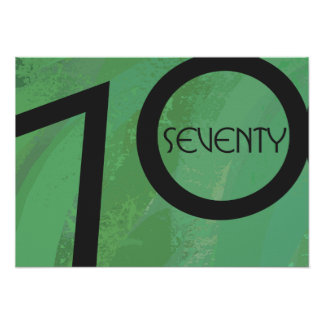 Green 70 Decade Birthdday Poster