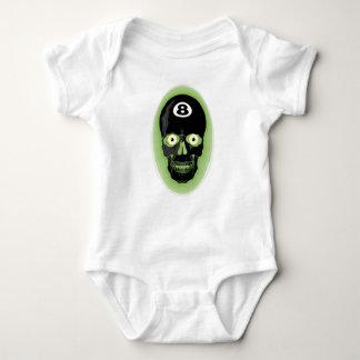 Green 8 Ball Pool Skull Baby Bodysuit