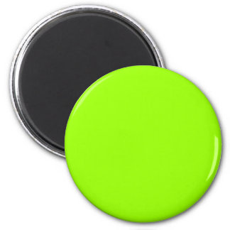 Green #99FF00 Solid Color 6 Cm Round Magnet