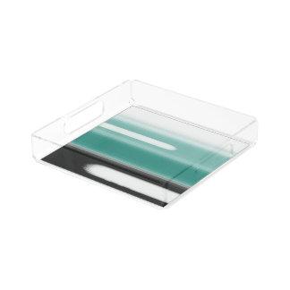 Green Abstract Acrylic Tray