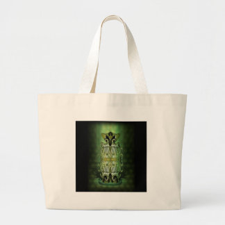 Green Abstract Alien Canvas Bags