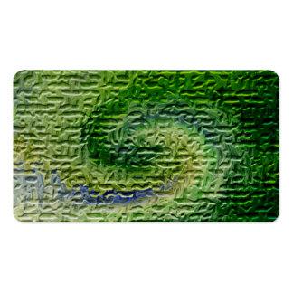 Green Abstract Art Business Card Templates