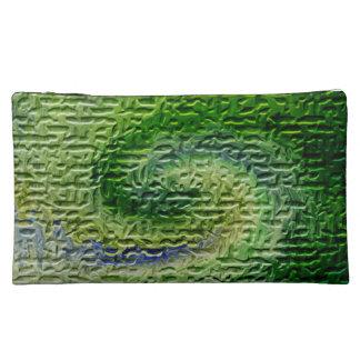 Green Abstract Art Makeup Bag