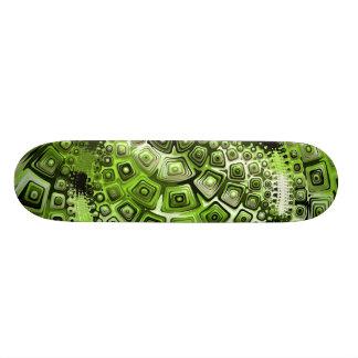 Green Abstract Art Skate Board Decks