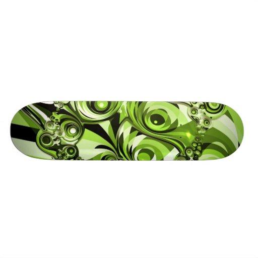 Green Abstract Art Skate Board Deck