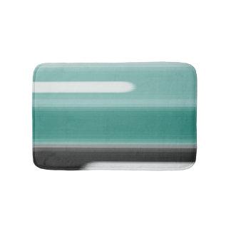 Green Abstract Bath Mats
