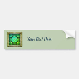Green Abstract Bumper Sticker