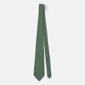 green abstract circle modern pattern tie