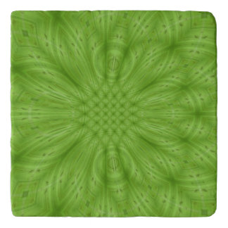 green abstract cool pattern trivet