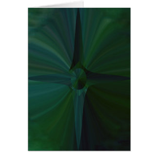 Green Abstract Cross Greeting Card