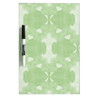Green Abstract Damask Design Dry Erase Whiteboards