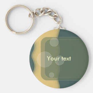 Green abstract dot design keychain