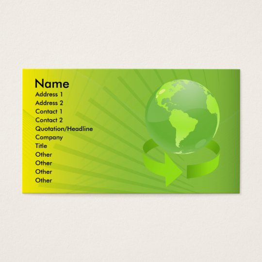 GREEN ABSTRACT EARTH DESIGN BUSINESS CARD