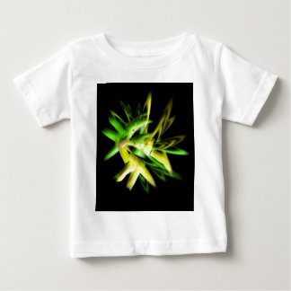 Green abstract flame baby T-Shirt