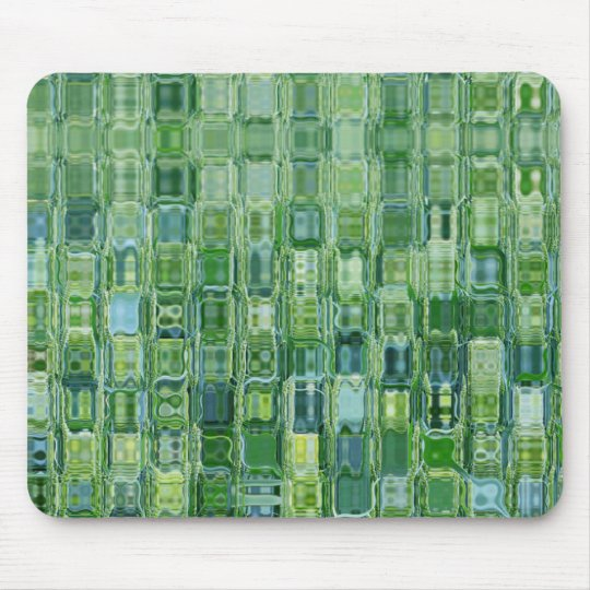 Green Abstract Glass Mouse Pad