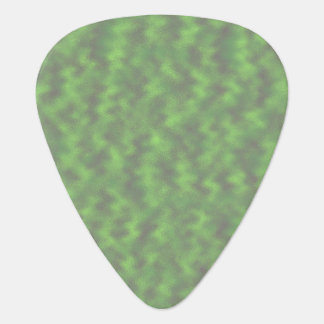 Green Abstract Guitar Pick