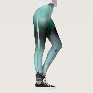 Green Abstract Leggings