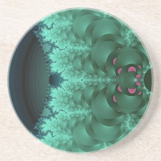 Green Abstract Lily Pads Coasters