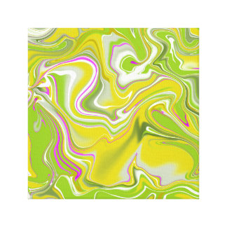 Green abstract marble background. canvas print