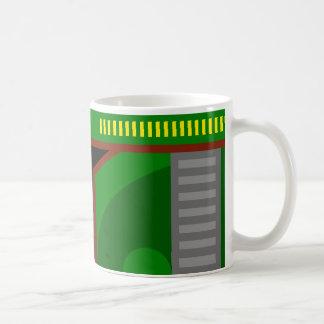 green abstract mug