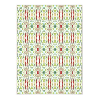 Green Abstract  Nature Shapes Design 14 Cm X 19 Cm Invitation Card
