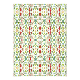 Green Abstract  Nature Shapes Design Invites