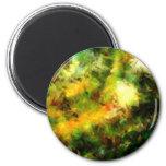 Green Abstract Painting Art Fridge Magnet