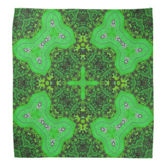 Green abstract pattern bandana