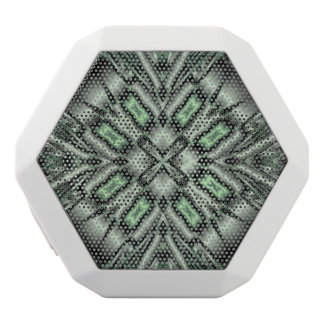 Green abstract pattern white boombot rex bluetooth speaker