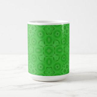 Green abstract pattern coffee mugs