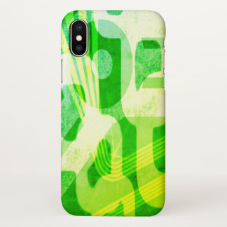 Green Abstract Pattern iPhone X Case