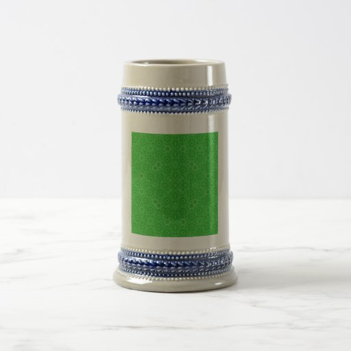 Green abstract pattern coffee mug