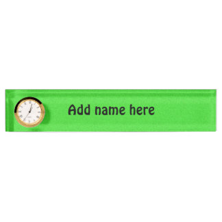 Green abstract pattern nameplate