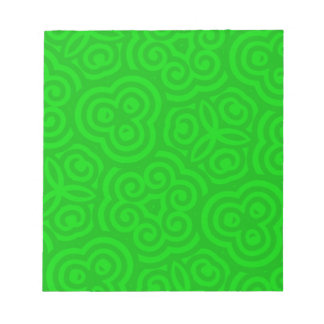 Green Abstract Pattern Note Pad