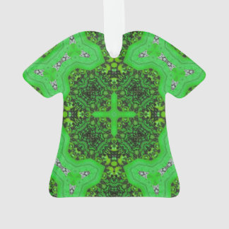 Green abstract pattern ornament