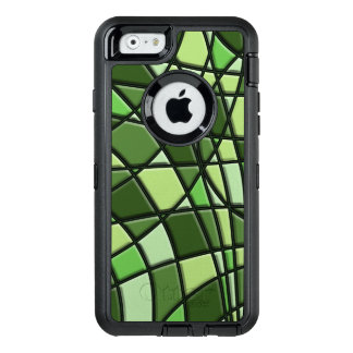 Green Abstract Pattern OtterBox Defender iPhone Case