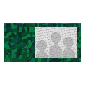 Green Abstract Pattern. Photo Cards