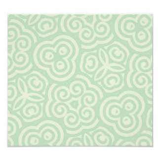 Green  Abstract Pattern Photographic Print