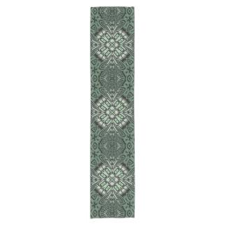 Green abstract pattern short table runner