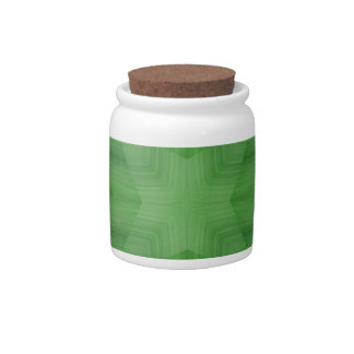 Green abstract pattern candy jar