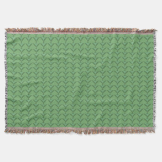 Green Abstract Pattern Throw