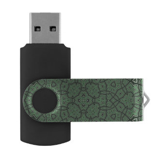green Abstract Pattern USB Flash Drive