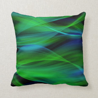 Green Abstract Pillow