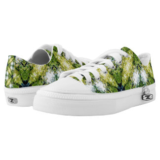 Green Abstract Printed Shoes