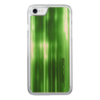 green abstract shiny lights by name carved iPhone 8/7 case