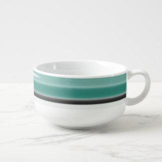 Green Abstract Soup Mug